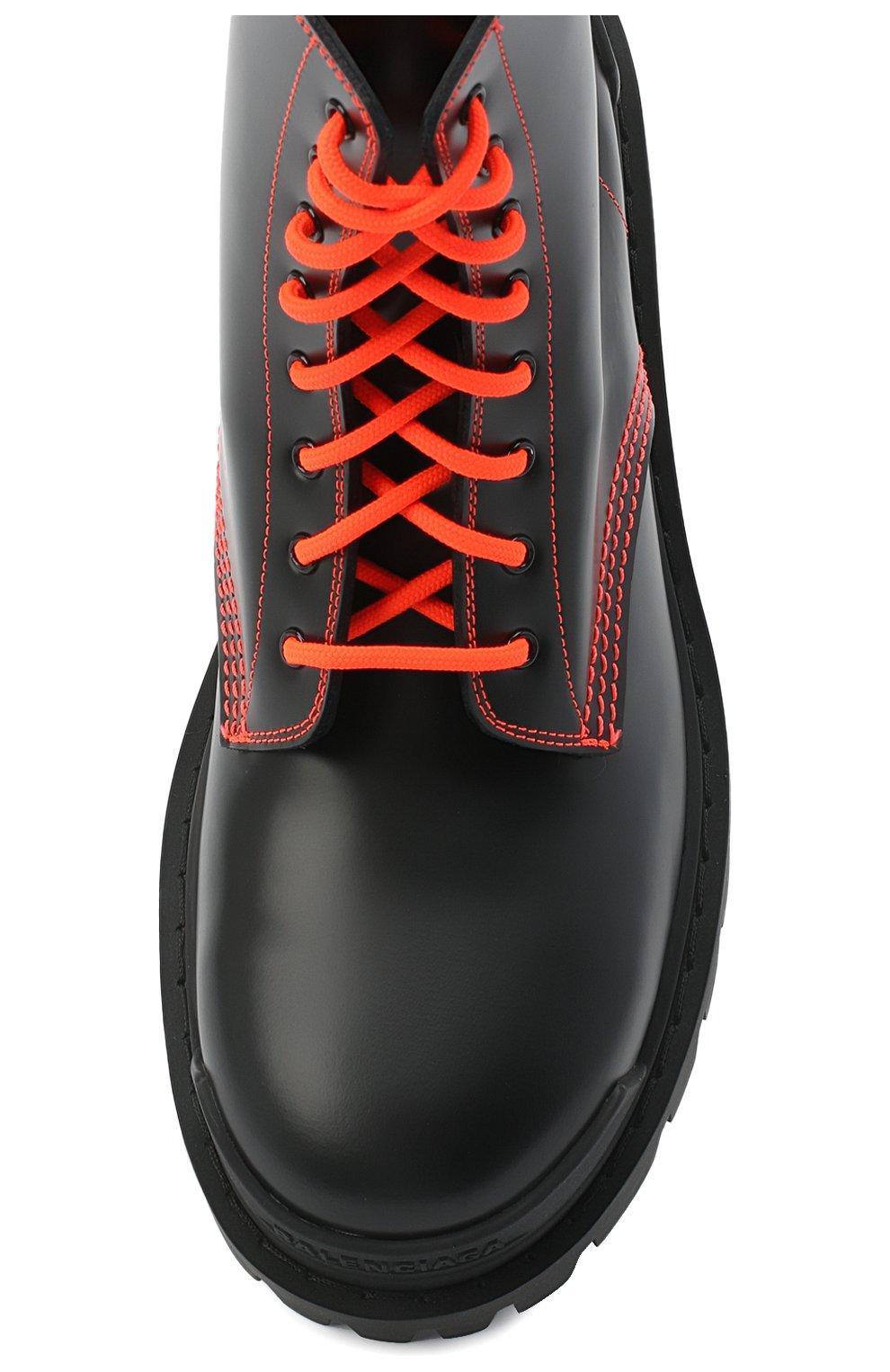 Женские кожаные ботинки 20 мм strike BALENCIAGA черного цвета, арт. 590974/WA964   Фото 5
