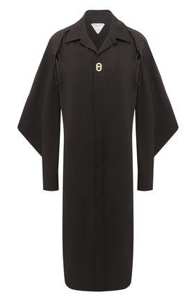 Женское хлопковое платье BOTTEGA VENETA темно-коричневого цвета, арт. 641290/VA5Y0 | Фото 1
