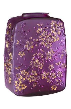 Мужская ваза fleurs de cerisier LALIQUE фиолетового цвета, арт. 10722200 | Фото 1