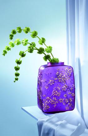 Мужская ваза fleurs de cerisier LALIQUE фиолетового цвета, арт. 10722200 | Фото 2
