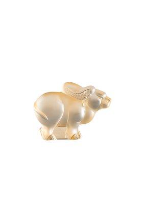 Мужского скульптура бык LALIQUE прозрачного цвета, арт. 10724900 | Фото 1