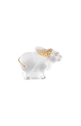 Скульптура бык LALIQUE золотого цвета, арт. 10725000 | Фото 1