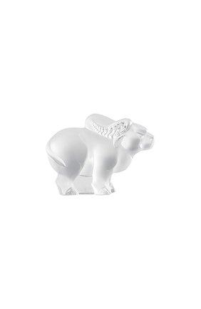 Скульптура бык LALIQUE прозрачного цвета, арт. 10017000 | Фото 1