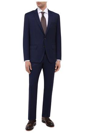Мужской шерстяной костюм BOSS темно-синего цвета, арт. 50438598   Фото 1