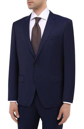 Мужской шерстяной костюм BOSS темно-синего цвета, арт. 50438598   Фото 2