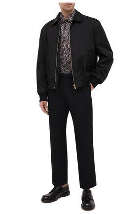 Мужской кожаные дерби DOLCE & GABBANA черного цвета, арт. A10638/AW765 | Фото 2