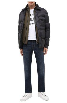 Мужские кожаные кеды SERGIO ROSSI белого цвета, арт. A91570-MFI163 | Фото 2
