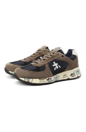Мужские комбинированные кроссовки mase PREMIATA светло-коричневого цвета, арт. MASE/VAR4982 | Фото 1
