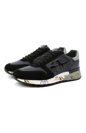 Мужские комбинированные кроссовки mick PREMIATA черного цвета, арт. MICK/VAR5017 | Фото 1