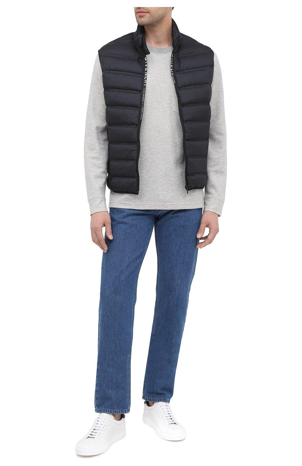 Мужские кожаные кеды urban street GIVENCHY белого цвета, арт. BH0002H0FS | Фото 2 (Материал внутренний: Натуральная кожа; Подошва: Массивная)