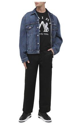 Мужские кожаные кеды wing GIVENCHY черного цвета, арт. BH002KH0KP | Фото 2