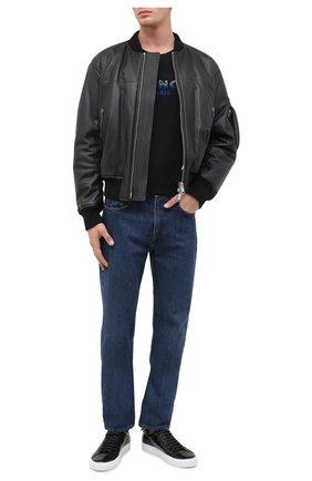 Мужские кожаные кеды urban street GIVENCHY черного цвета, арт. BH0002H0MP | Фото 2