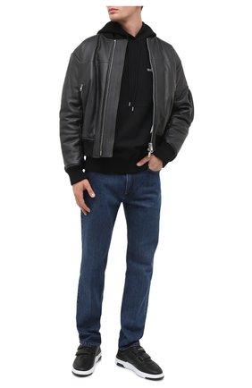Мужские кожаные кеды GIVENCHY черного цвета, арт. BH003FH0KP | Фото 2