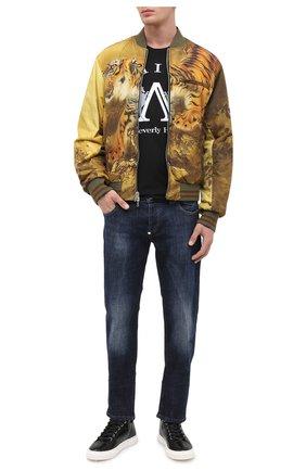 Мужские кожаные кеды blabber GIUSEPPE ZANOTTI DESIGN черного цвета, арт. RU00020/003 | Фото 2