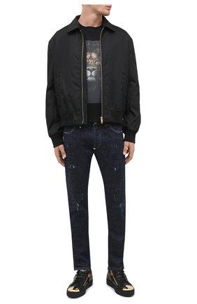 Мужские кожаные кеды frankie steel GIUSEPPE ZANOTTI DESIGN черного цвета, арт. RU00027/001 | Фото 2