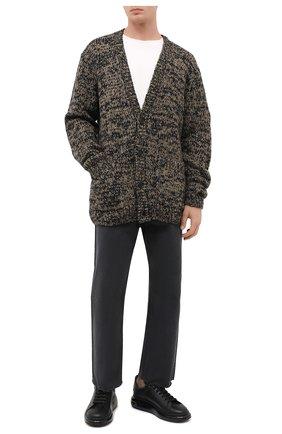Мужские кожаные кеды ALEXANDER MCQUEEN черного цвета, арт. 604232/WHX98 | Фото 2