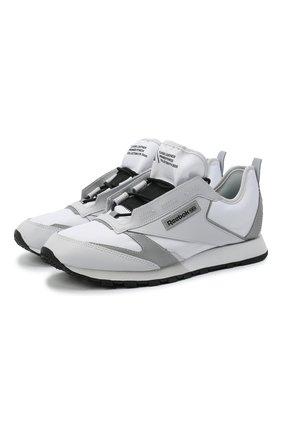 Мужские кроссовки classic leather premier REEBOK белого цвета, арт. FV9287 | Фото 1