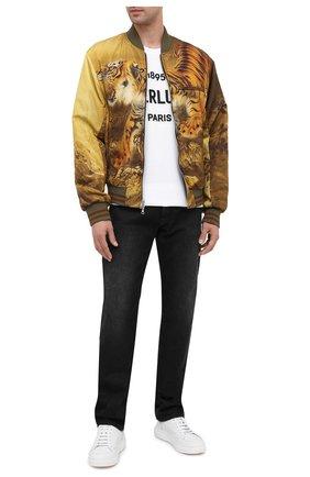 Мужская хлопковая футболка BERLUTI белого цвета, арт. R18JRS50-003 | Фото 2 (Рукава: Короткие; Длина (для топов): Стандартные; Материал внешний: Хлопок; Мужское Кросс-КТ: Футболка-одежда; Принт: С принтом; Стили: Кэжуэл)