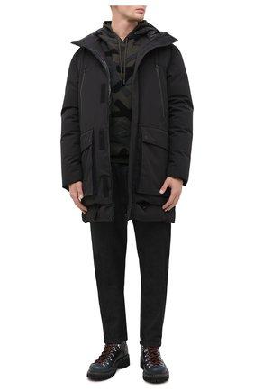Мужская пуховая парка UPTOBE черного цвета, арт. UPW0/EVEREST/NER0 | Фото 2