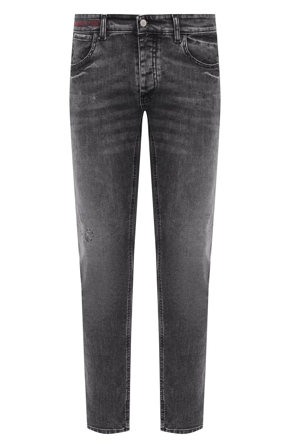 Мужские джинсы PREMIUM MOOD DENIM SUPERIOR серого цвета, арт. F21 417234651/R0BERT | Фото 1