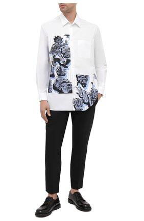 Мужской брюки NEIL BARRETT черного цвета, арт. PBPA806A/P028 | Фото 2