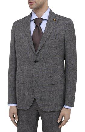 Мужской шерстяной костюм SARTORIA LATORRE темно-серого цвета, арт. A6I7EF A40711 | Фото 2