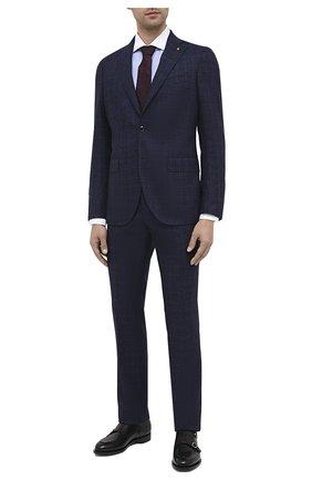 Мужской шерстяной костюм SARTORIA LATORRE синего цвета, арт. A6I7EF Q81367 | Фото 1