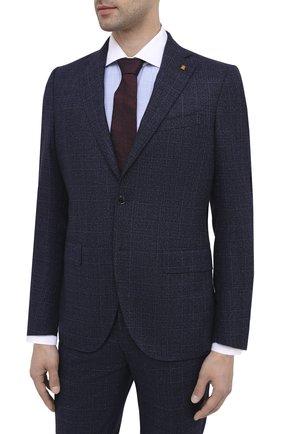 Мужской шерстяной костюм SARTORIA LATORRE синего цвета, арт. A6I7EF Q81367 | Фото 2
