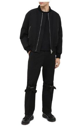 Мужская хлопковая футболка ISAAC SELLAM черного цвета, арт. DEBL0QUE-JERSEY H21 | Фото 2