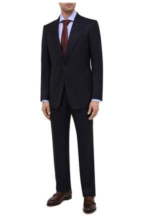 Мужской костюм из шерсти и шелка TOM FORD темно-синего цвета, арт. 832R62/21AL43   Фото 1