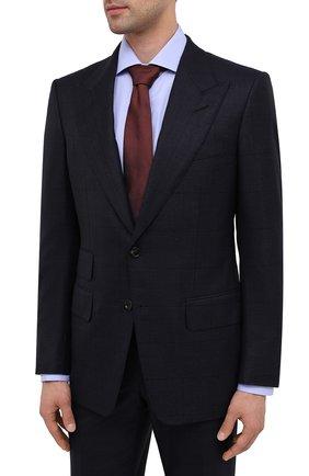 Мужской костюм из шерсти и шелка TOM FORD темно-синего цвета, арт. 832R62/21AL43   Фото 2