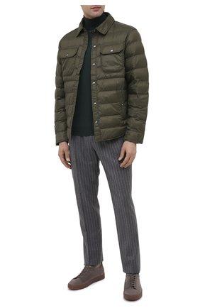 Мужская утепленная куртка POLO RALPH LAUREN темно-зеленого цвета, арт. 710810901 | Фото 2