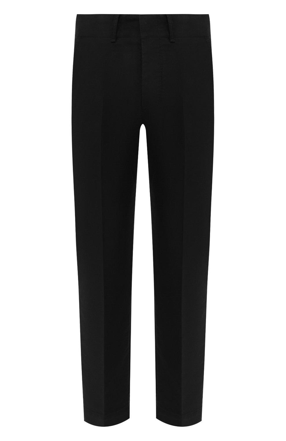 Мужские хлопковые брюки TOM FORD черного цвета, арт. BV141/TFP224   Фото 1 (Длина (брюки, джинсы): Стандартные; Случай: Повседневный; Материал внешний: Хлопок; Стили: Кэжуэл)