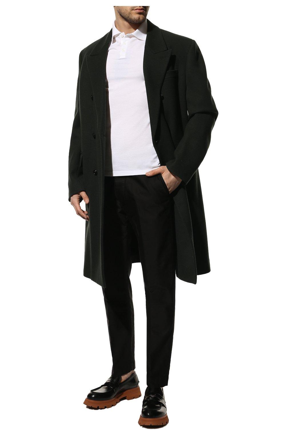 Мужские хлопковые брюки TOM FORD черного цвета, арт. BV141/TFP224   Фото 2 (Длина (брюки, джинсы): Стандартные; Случай: Повседневный; Материал внешний: Хлопок; Стили: Кэжуэл)