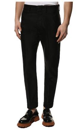 Мужские хлопковые брюки TOM FORD черного цвета, арт. BV141/TFP224   Фото 3 (Длина (брюки, джинсы): Стандартные; Случай: Повседневный; Материал внешний: Хлопок; Стили: Кэжуэл)