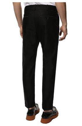 Мужские хлопковые брюки TOM FORD черного цвета, арт. BV141/TFP224   Фото 4 (Длина (брюки, джинсы): Стандартные; Случай: Повседневный; Материал внешний: Хлопок; Стили: Кэжуэл)