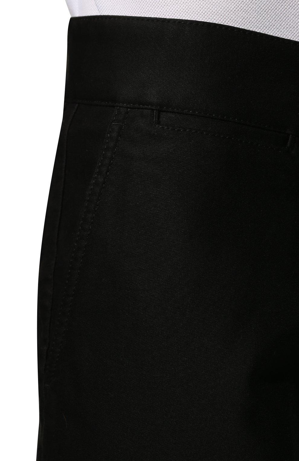 Мужские хлопковые брюки TOM FORD черного цвета, арт. BV141/TFP224   Фото 5 (Длина (брюки, джинсы): Стандартные; Случай: Повседневный; Материал внешний: Хлопок; Стили: Кэжуэл)