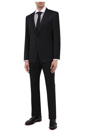Мужской шерстяной костюм BOSS черного цвета, арт. 50438598   Фото 1
