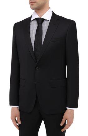 Мужской шерстяной костюм BOSS черного цвета, арт. 50438598   Фото 2
