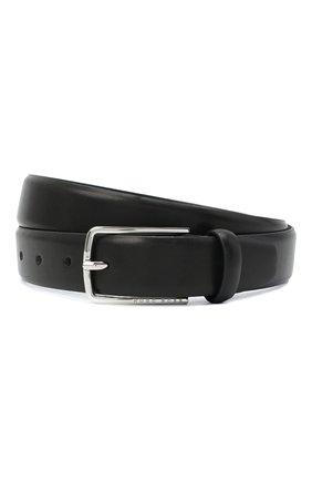Мужской кожаный ремень BOSS черного цвета, арт. 50441640 | Фото 1