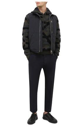 Мужские кожаные кеды SALVATORE FERRAGAMO черного цвета, арт. Z-07342853E | Фото 2