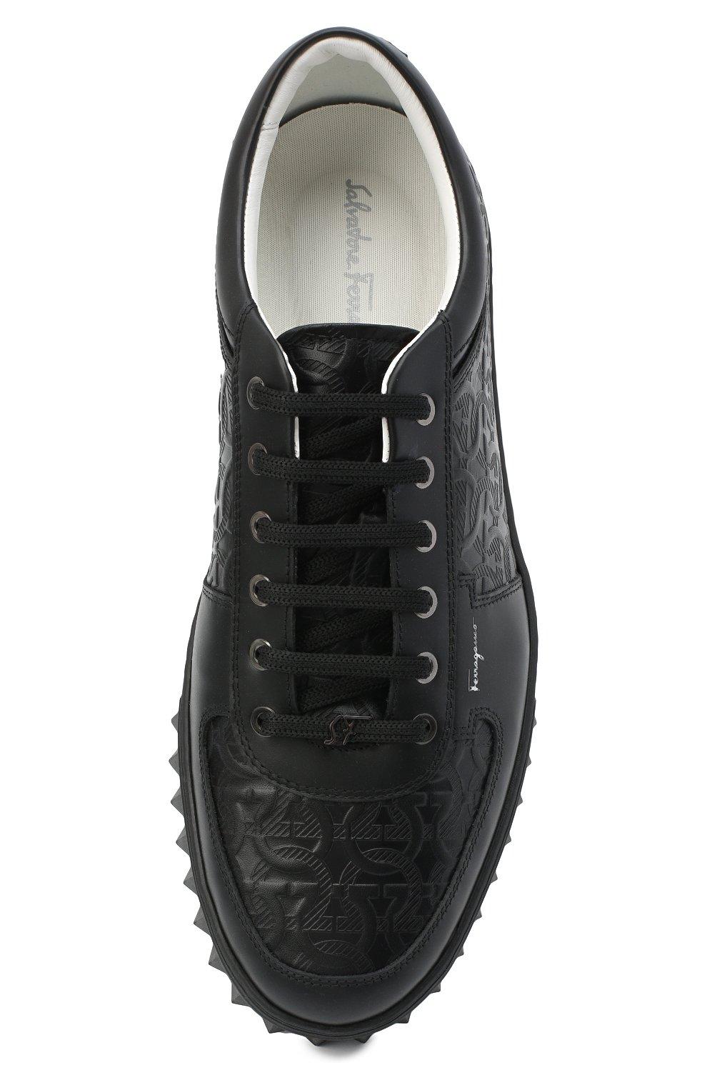 Мужские кожаные кеды SALVATORE FERRAGAMO черного цвета, арт. Z-07342853E | Фото 5