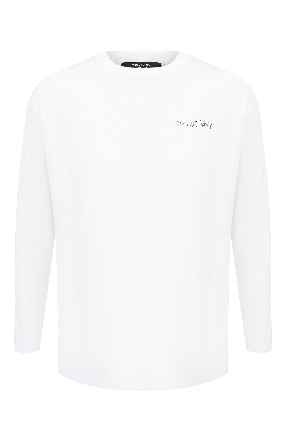 Мужская хлопковый лонгслив STELLA MCCARTNEY белого цвета, арт. 601816/SMP81 | Фото 1
