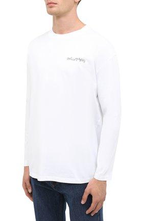 Мужская хлопковый лонгслив STELLA MCCARTNEY белого цвета, арт. 601816/SMP81 | Фото 3