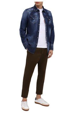 Мужская джинсовая рубашка DSQUARED2 синего цвета, арт. S74DM0453/S30341 | Фото 2