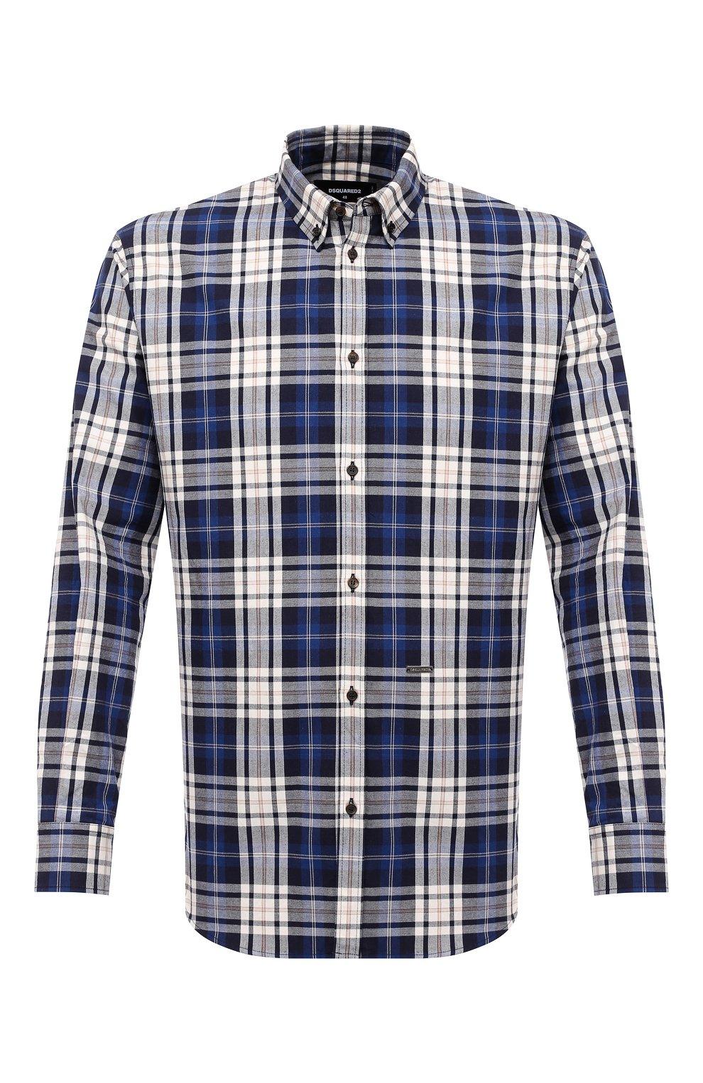 Мужская хлопковая рубашка DSQUARED2 разноцветного цвета, арт. S74DM0455/S53027   Фото 1