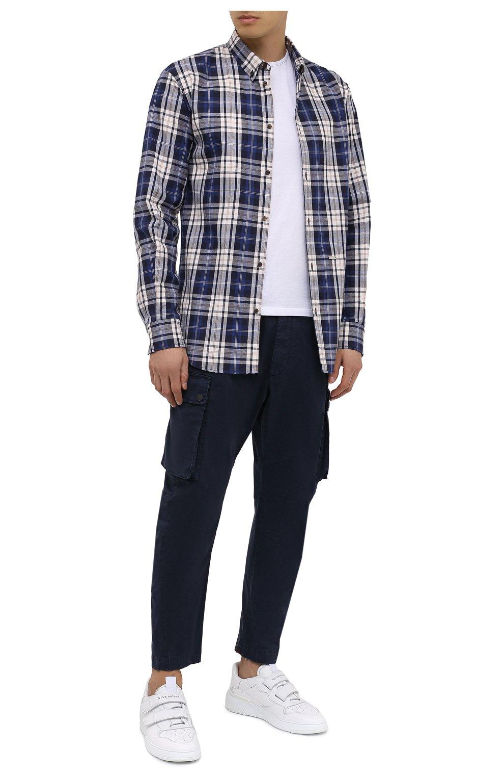 Мужская хлопковая рубашка DSQUARED2 разноцветного цвета, арт. S74DM0455/S53027   Фото 2