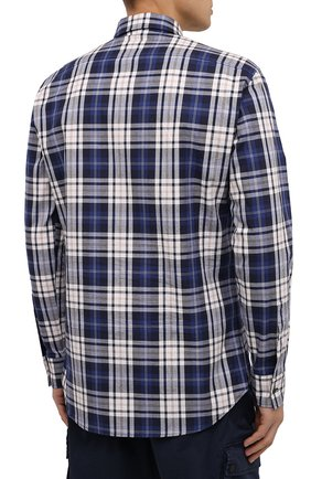 Мужская хлопковая рубашка DSQUARED2 разноцветного цвета, арт. S74DM0455/S53027   Фото 4
