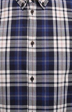 Мужская хлопковая рубашка DSQUARED2 разноцветного цвета, арт. S74DM0455/S53027   Фото 5