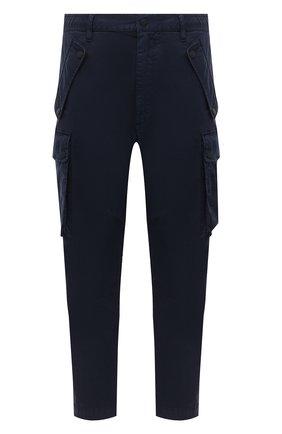 Мужской хлопковые брюки-карго DSQUARED2 темно-синего цвета, арт. S74KB0470/S52985   Фото 1